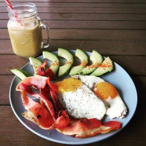 Bacon and Eggs Benassi w Avocado