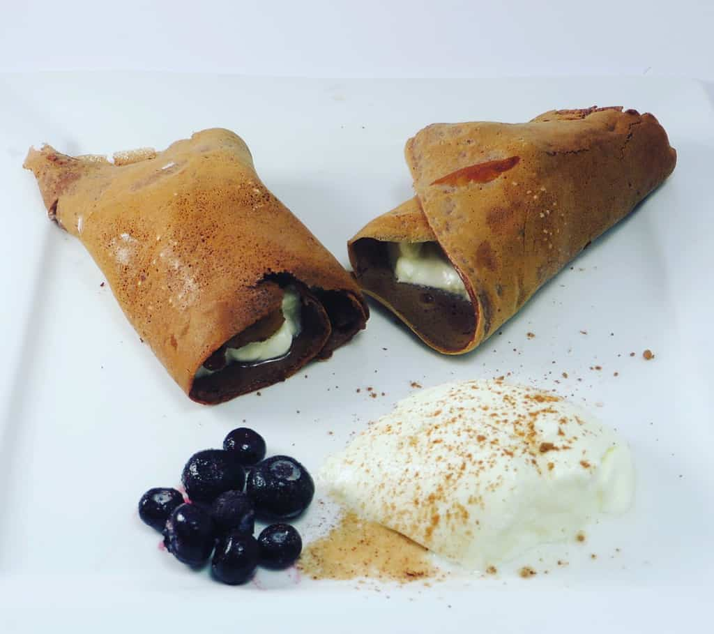 keto chocolate crepes