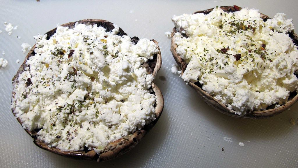 feta stuffed mushrooms