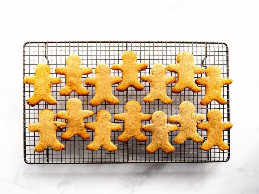 gingerbread men baking tray