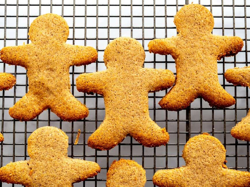 gingerbread men out of the oven
