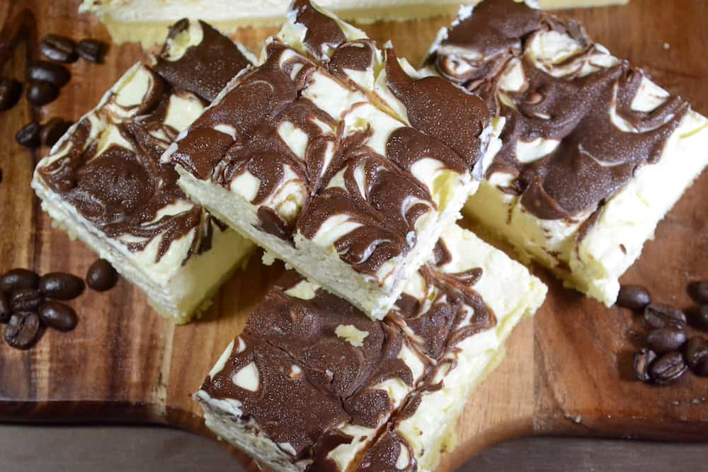 Low Carb Coffee Cheesecake Slice