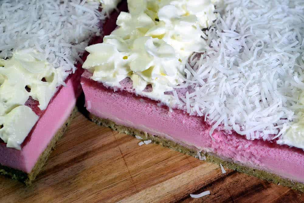 Low Carb Iced Vovo Slice