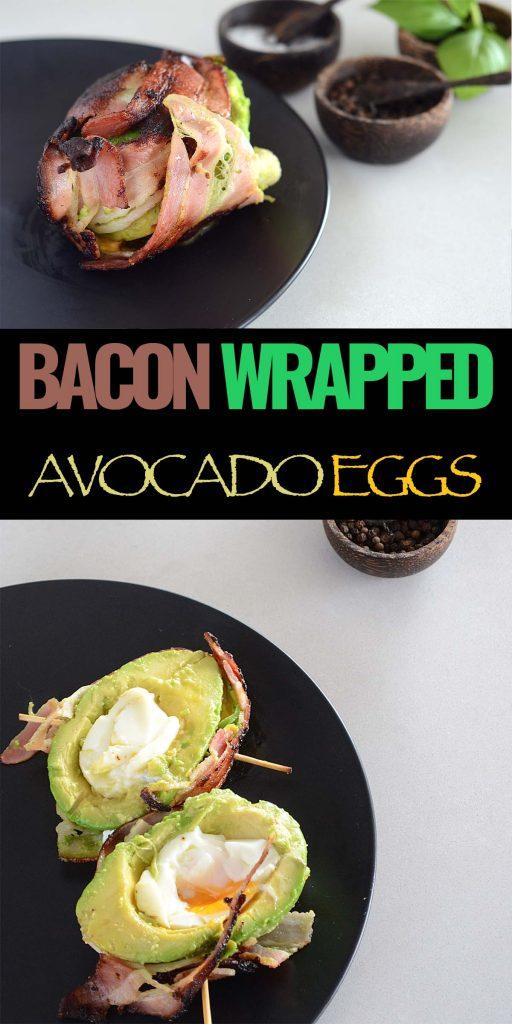 bacon wrapped avocado eggs