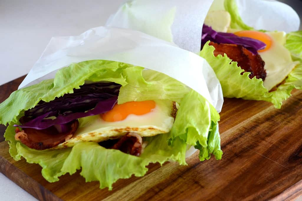 Bacon And Egg Bunless Burger - Simply Delicious | FatForWeightLoss