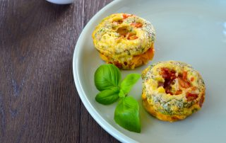 mini crustless quiche