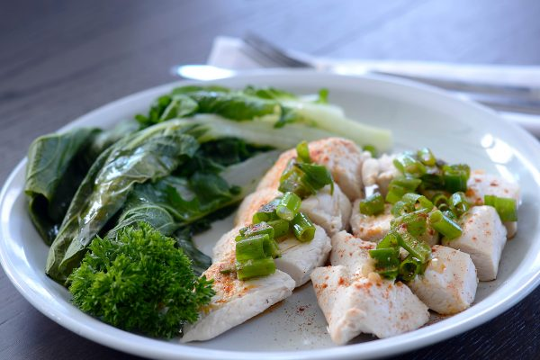 Asian Steamed Chicken with Greens