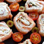 salmon and cream cheese pinwheels