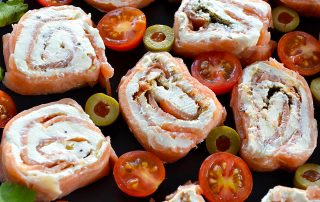 salmon and cream cheese pinwheels