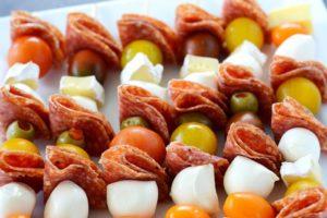 Cheese And Salami Kebabs