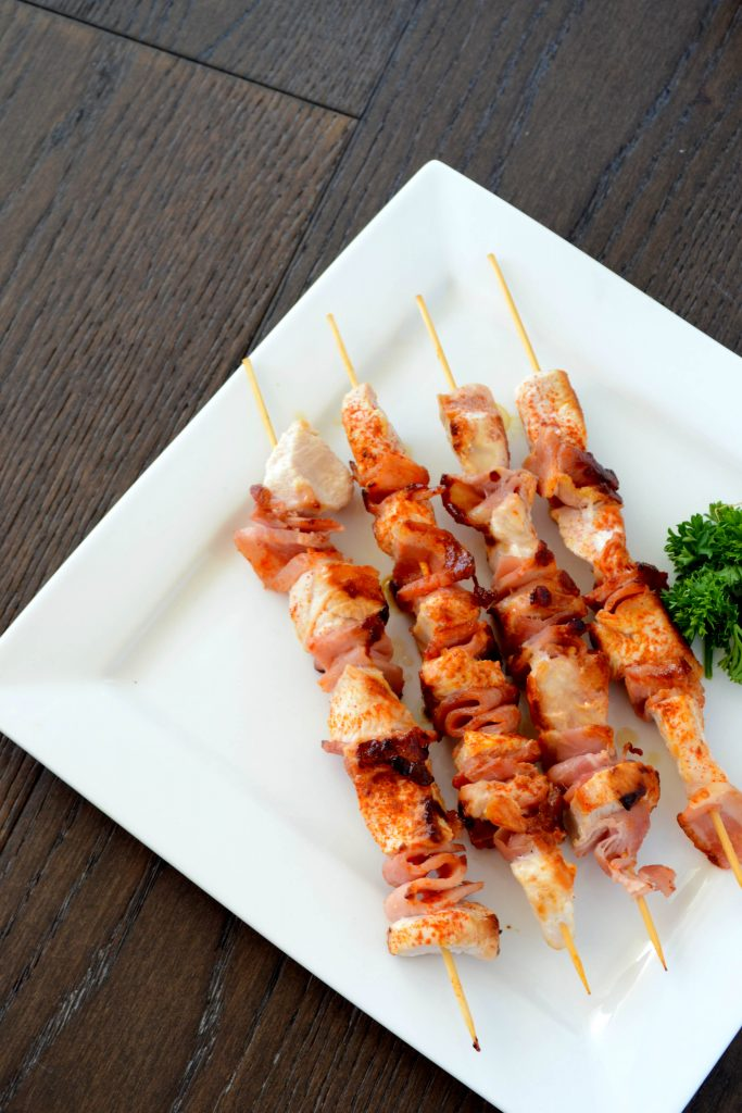 chicken and bacon kebab