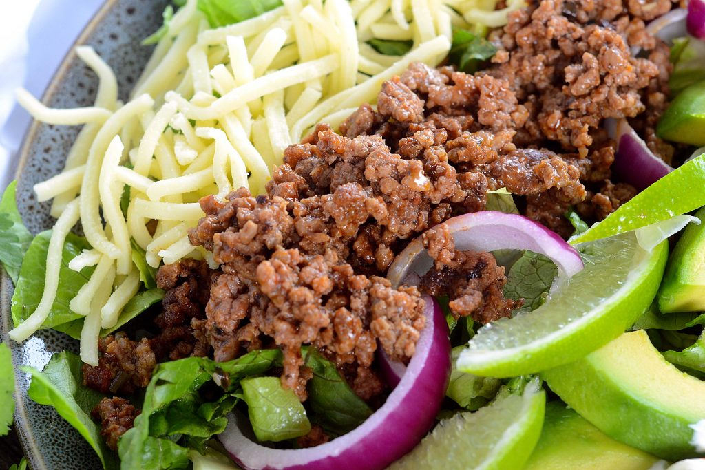Keto Taco Salad - Gluten Free Keto Friendly Tacos | FatForWeightLoss