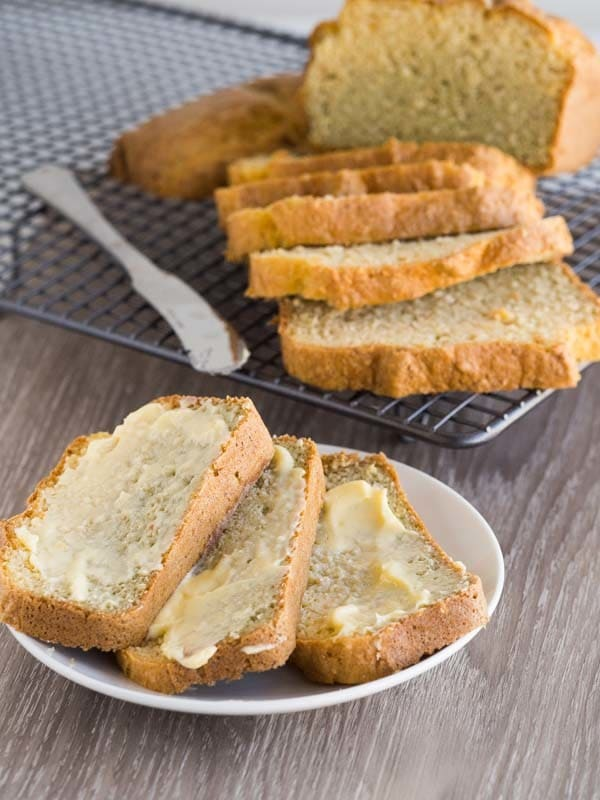 Keto coconut bread