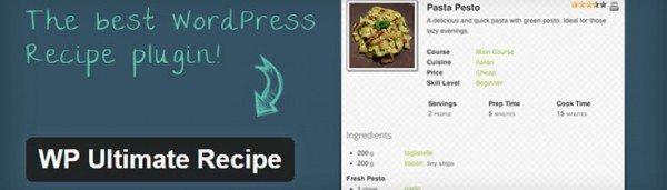 wp ultimate recipe plugin