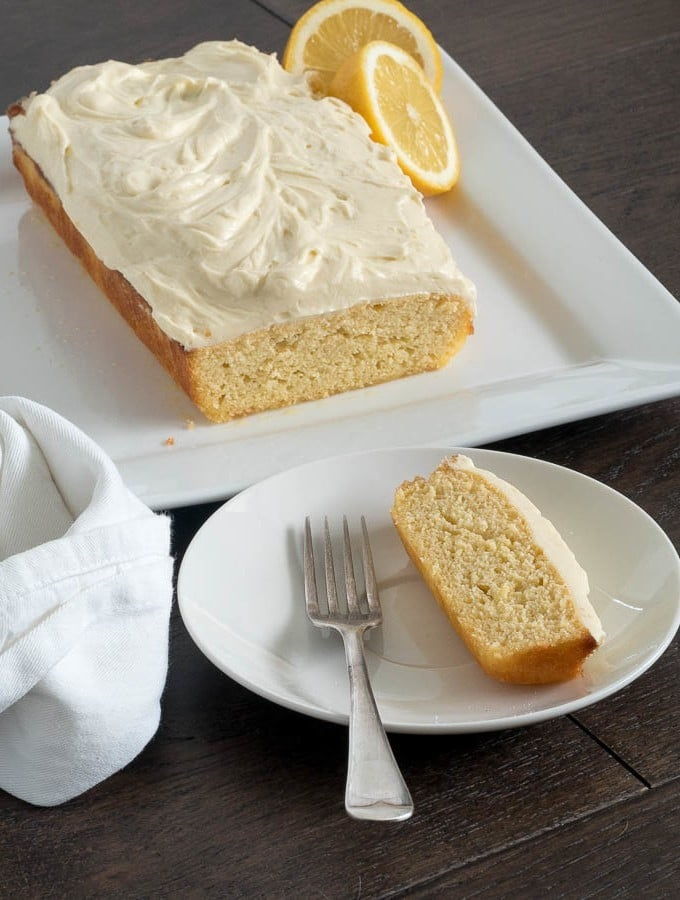 Keto Lemon Coconut Cake with Cream Cheese Icing