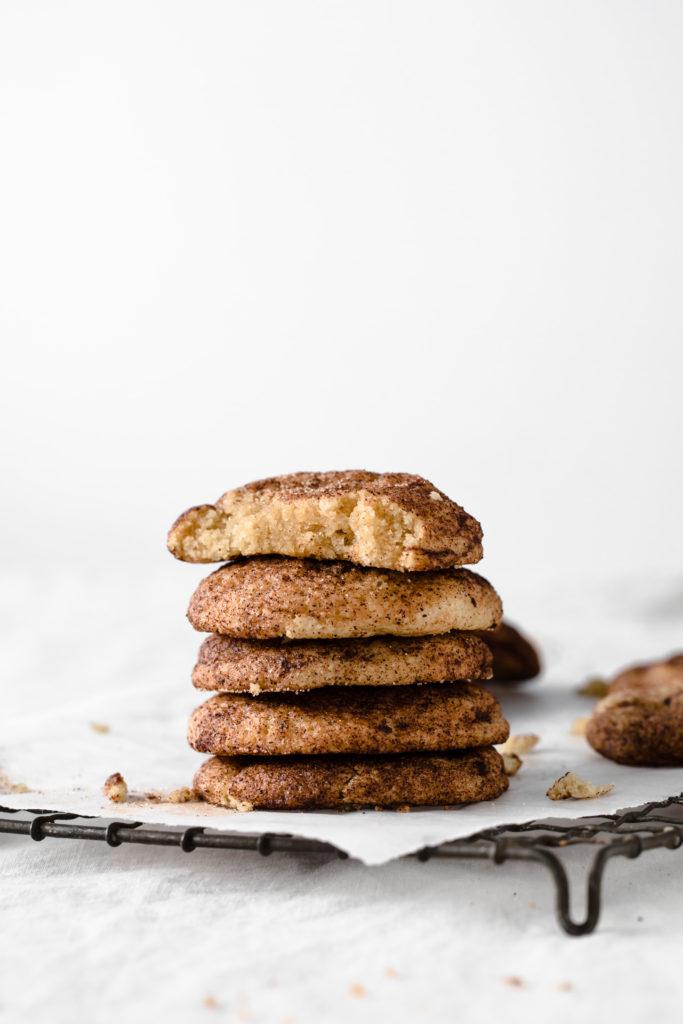 snickerdoodle cookies with bite