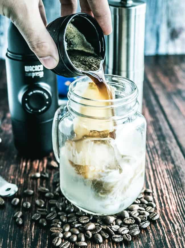 Iced Peppermint Bulletproof Coffee