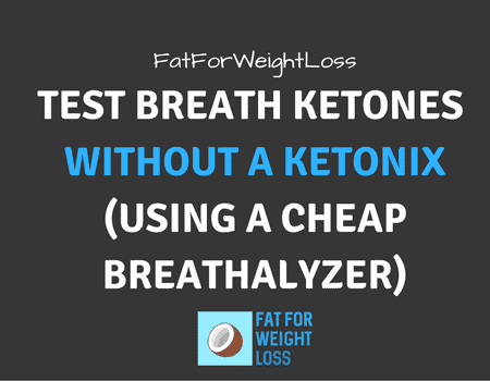 Measure Breath Ketones without a Ketonix (using a cheap breathalyzer)