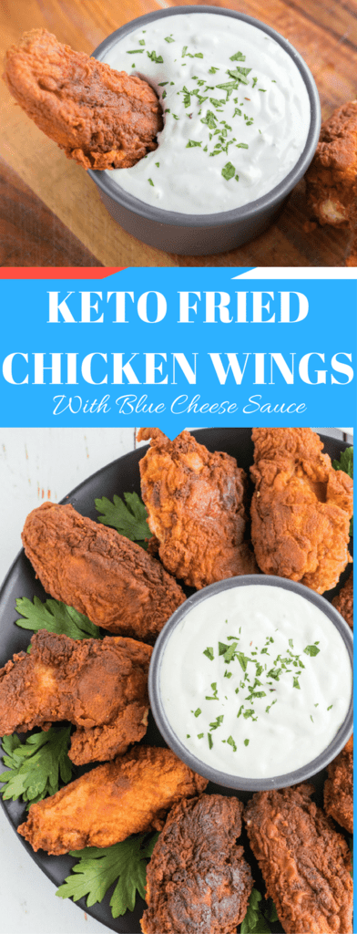 Keto Crispy Fried Chicken With Buffalo Dipping Sauce