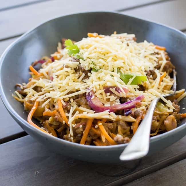 keto slaw with parmesan cheese
