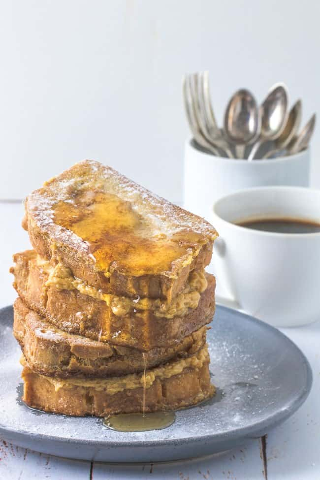 Keto French Toast with Peanut Butter Maple Syrup - Keto Bread Recipes