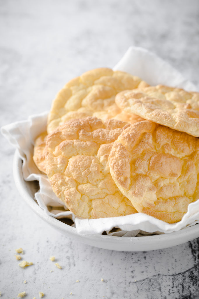 keto cloud bread in a bowl