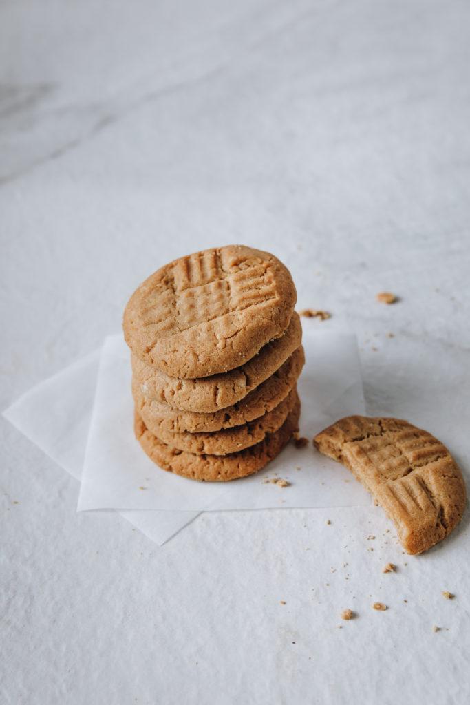 stack of keto cookies