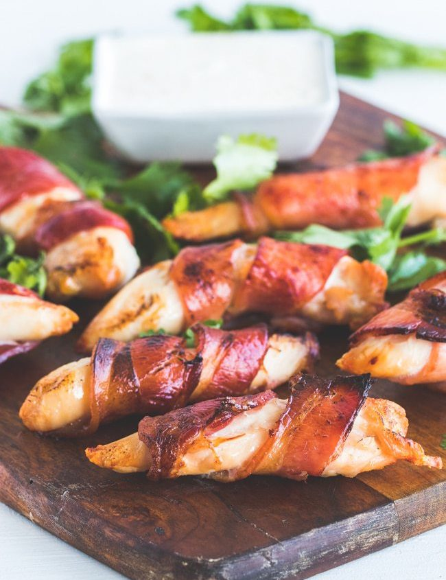 bacok wrapped chicken tenders