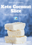 keto coconut slice