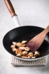 chicken in frying pan