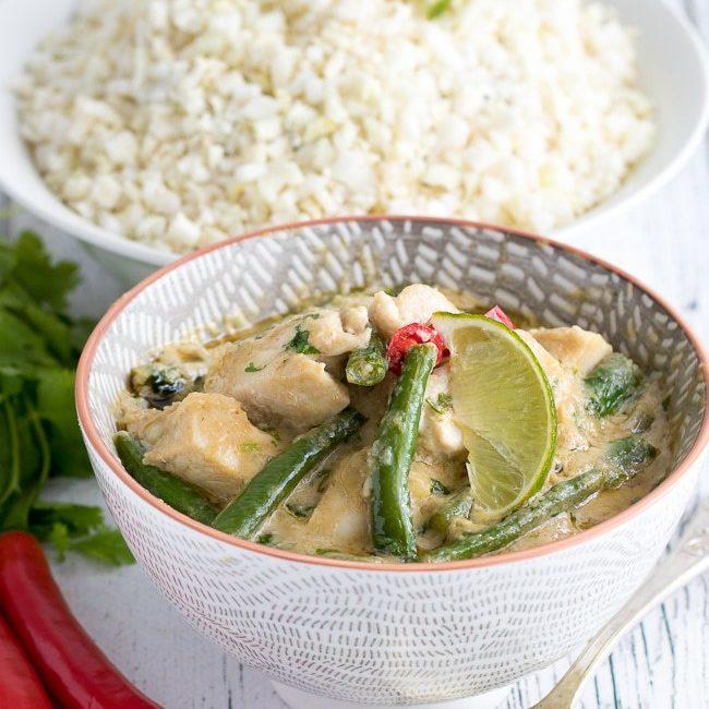 Keto green chicken Curry
