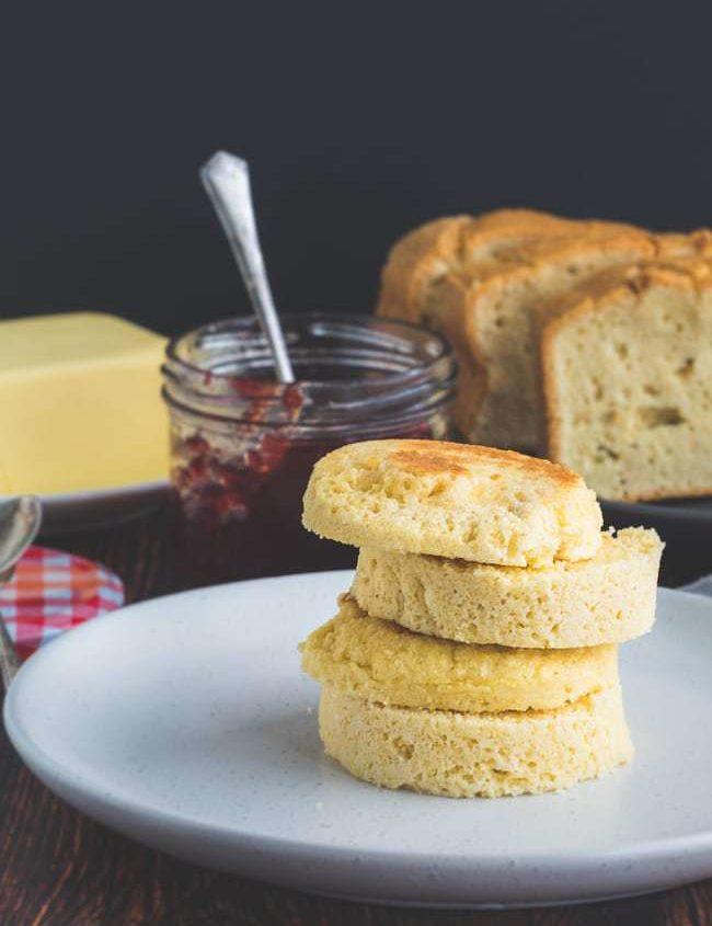 Keto Toast with Sugar Free Jam