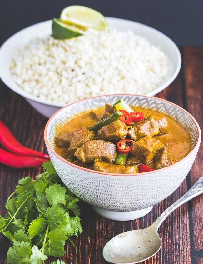 keto yellow beef curry