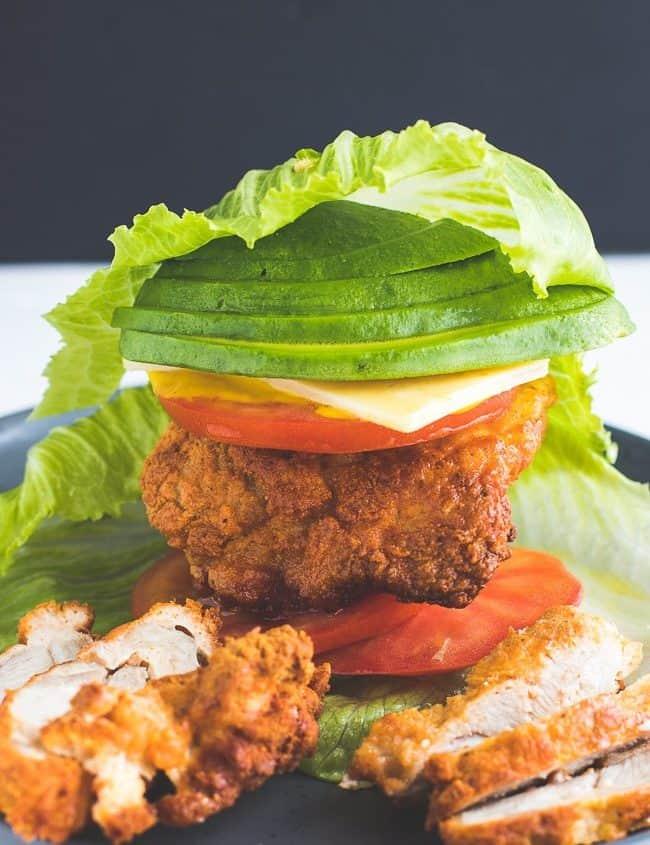 Bunless Chicken Burger