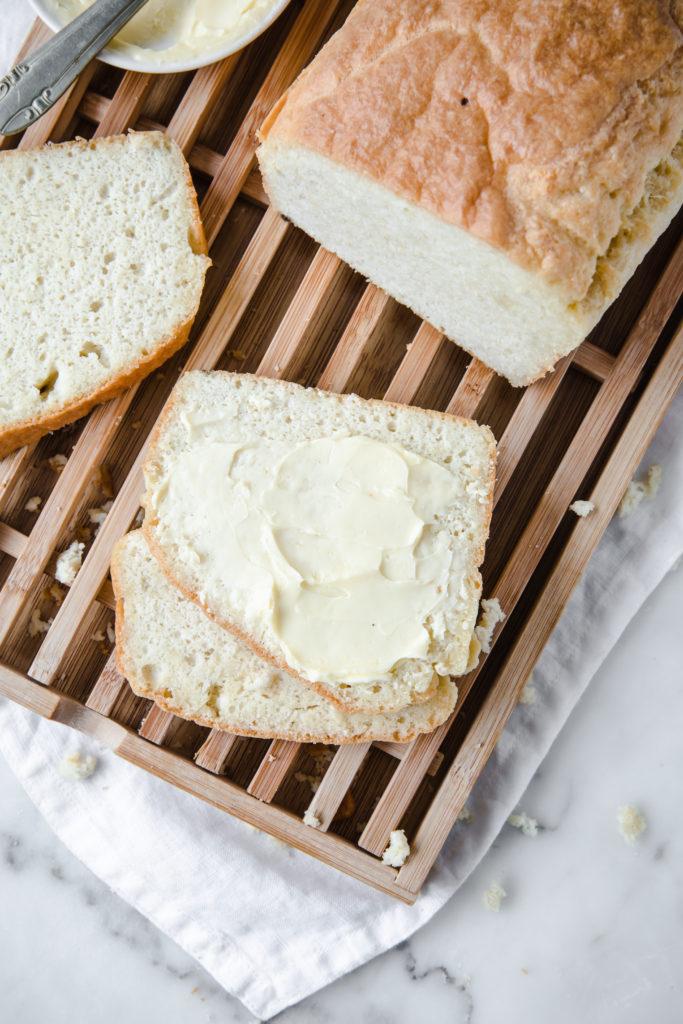 nut free keto bread on chopping board