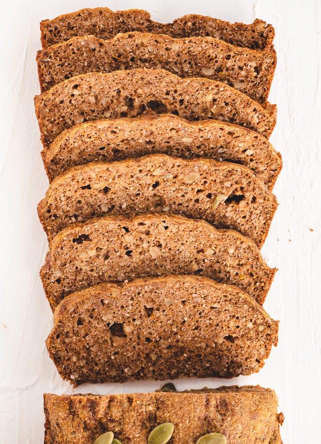 Keto Pumpkin Bread – Psyllium Husk Keto Bread