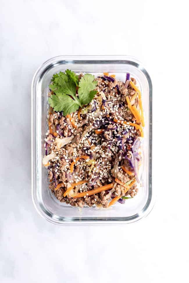 sesame beef coleslaw