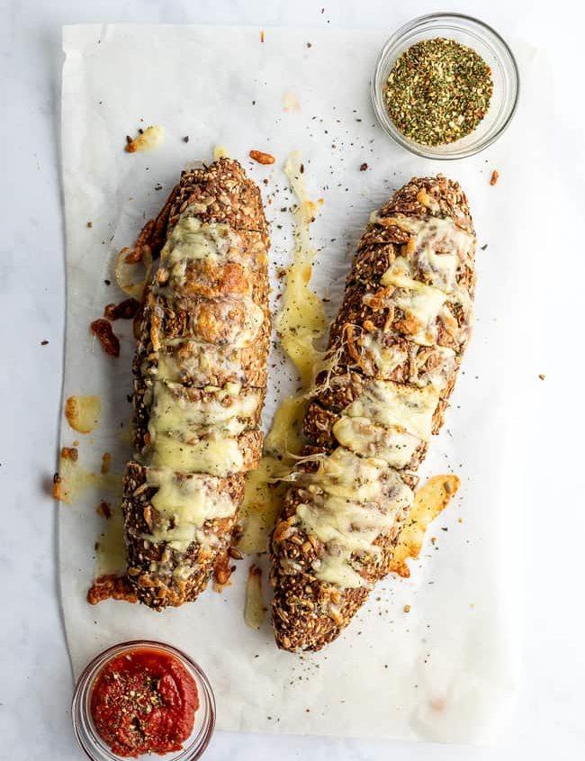 low carb cheesy garlic bread