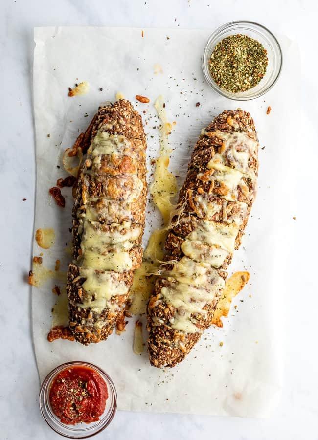 Cheesy Low Carb Garlic Bread