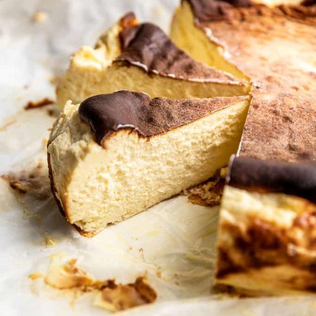 basque burnt keto cheesecake