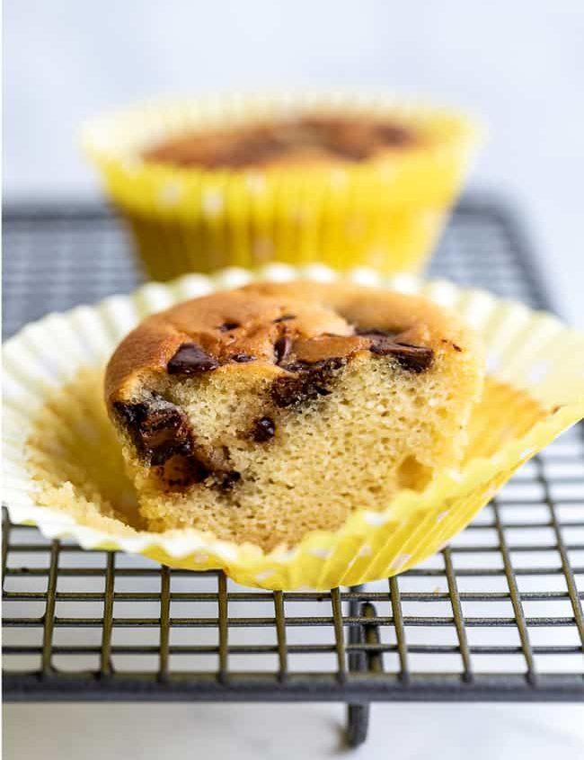 milk chocolate keto muffins