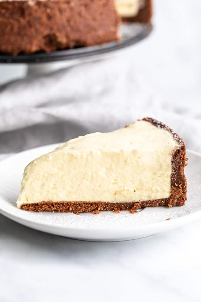 salted caramel keto cheesecake on a plate
