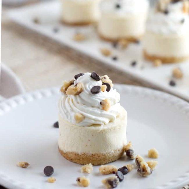 keto mini cookie dough cheesecake