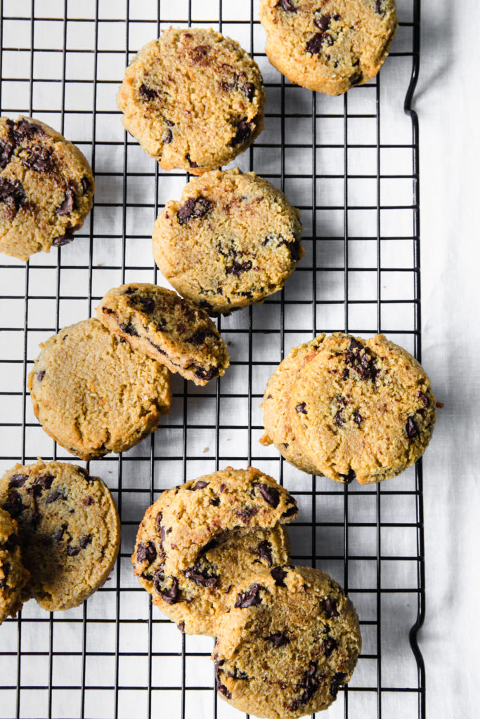 cookies on a wire rack