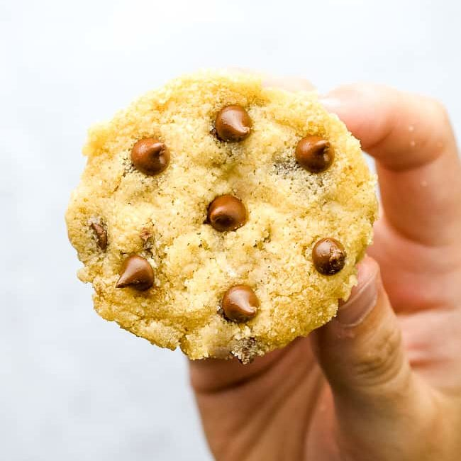 1 MINUTE CHOCOLATE CHIP COOKIE
