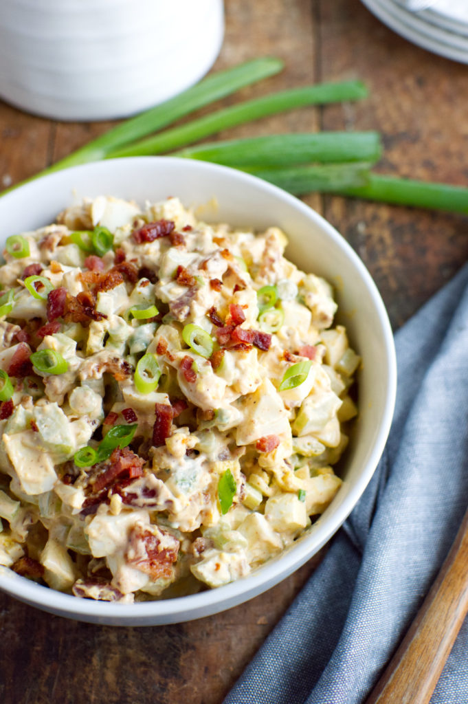 Keto Deviled Egg Salad with Bacon
