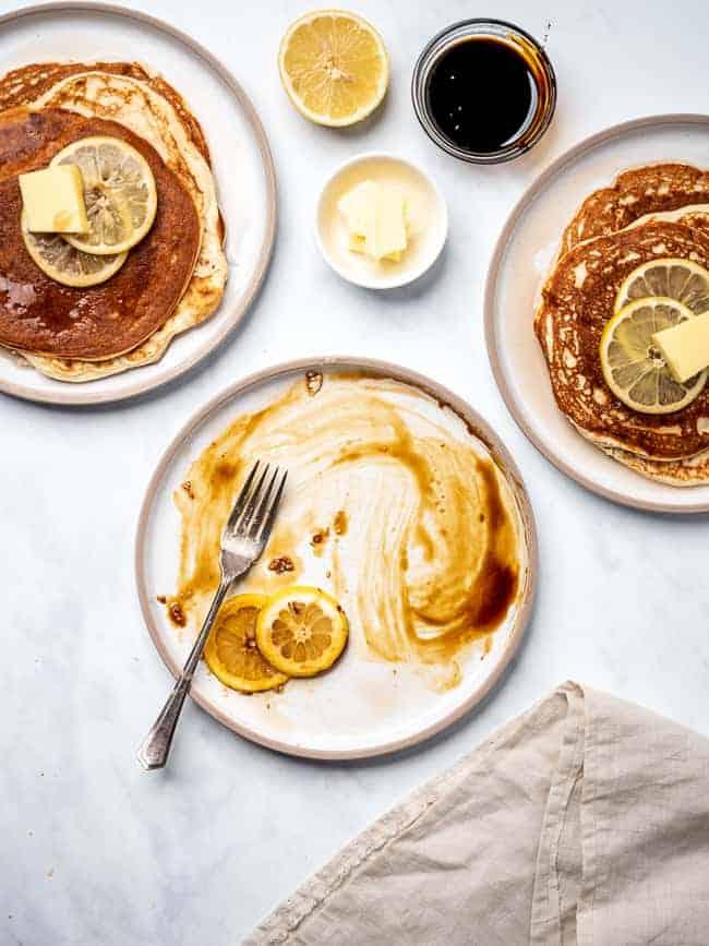 empty plate pancakes