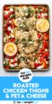 Harissa Roasted Chicken Thighs with Greek Yogurt and Feta Cheese