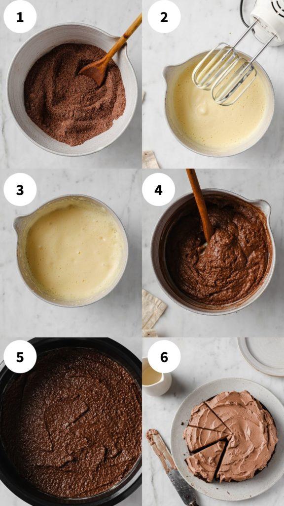 keto chocolate cake process